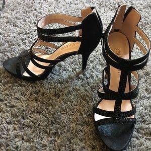 Cathy Jean Black Stiletto Heels size 10